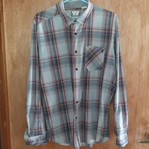 Volcom Button Down Lomg Sleeve Size Large